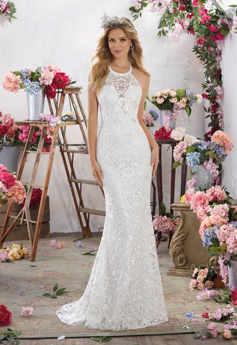 halter wedding dress morilee