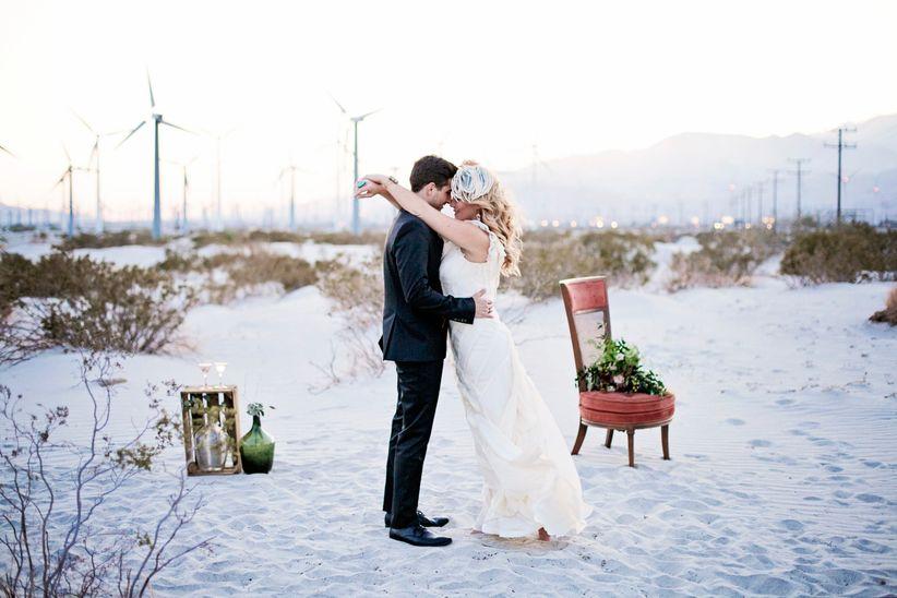 modern california desert wedding