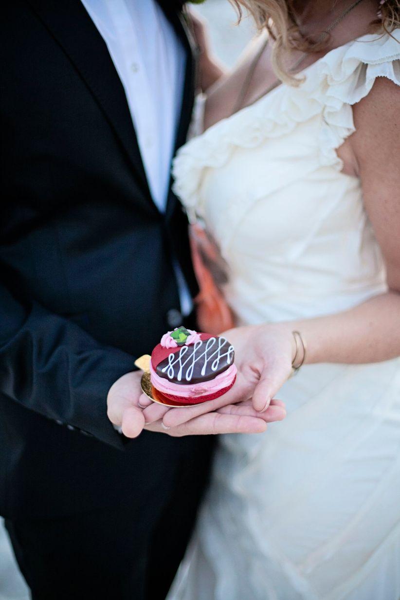 giant macaron wedding dessert