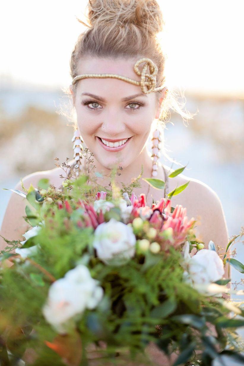 boho bride makeup and hair