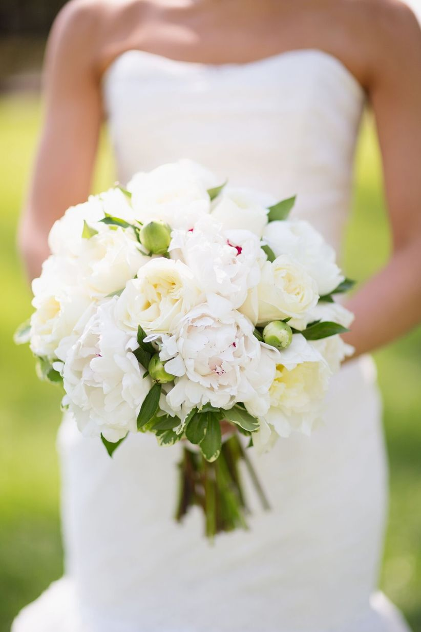 classic peony and rose spring bouquet
