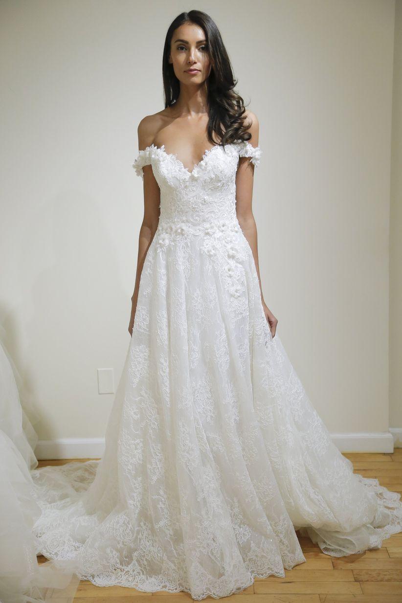 eve of milady off the shoulder wedding dress