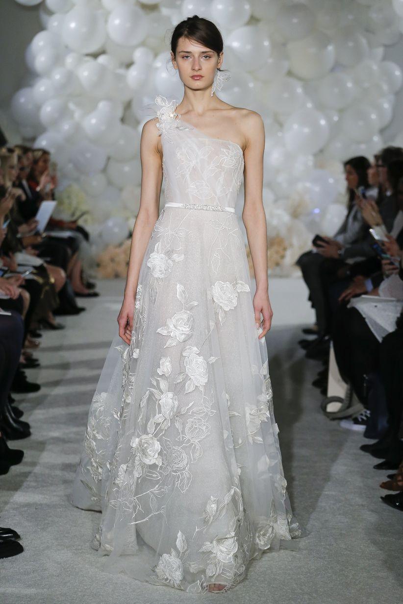 one shoulder mira zwillinger wedding dress
