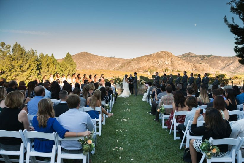 13 scenic outdoor wedding venues in san diego weddingwire wedding venues in san diego orfila vineyards junglespirit
