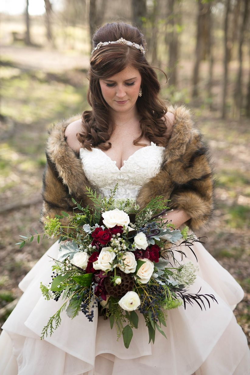 winter bride attire
