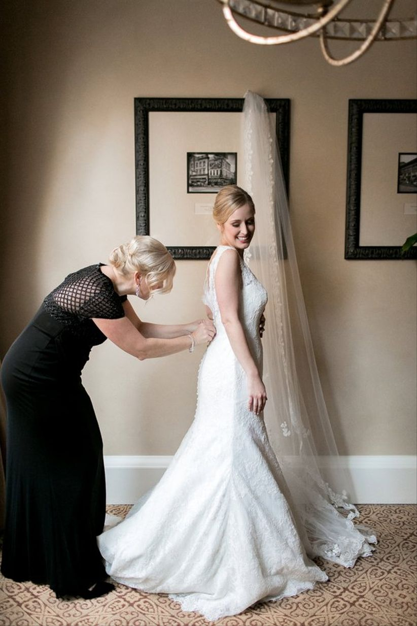 mother of the bride helping button dress