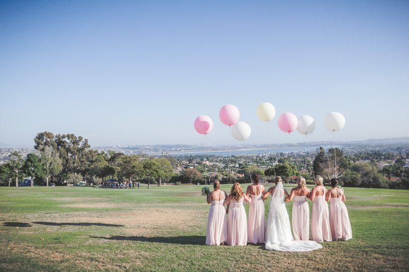 park bridal party balloons