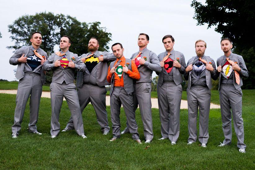 74a45522313 brett loves elle photography casual groomsmen attire orange gray