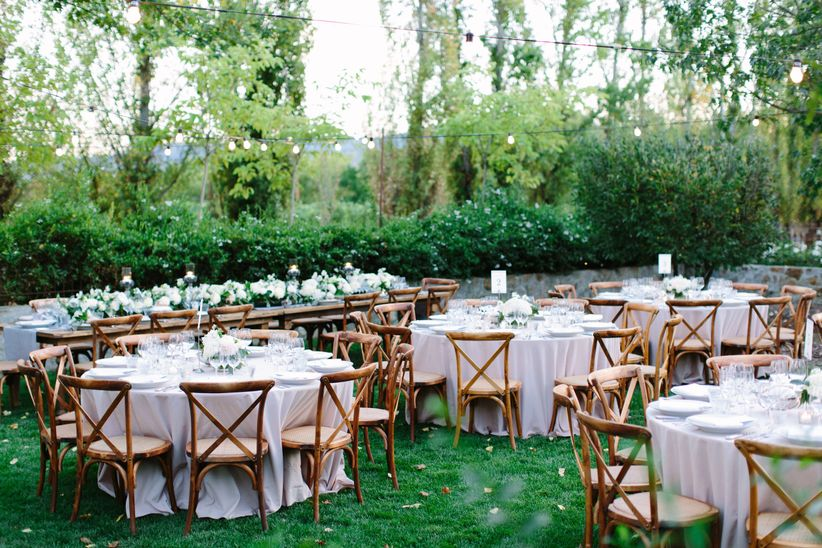 outdoor reception tablescapes