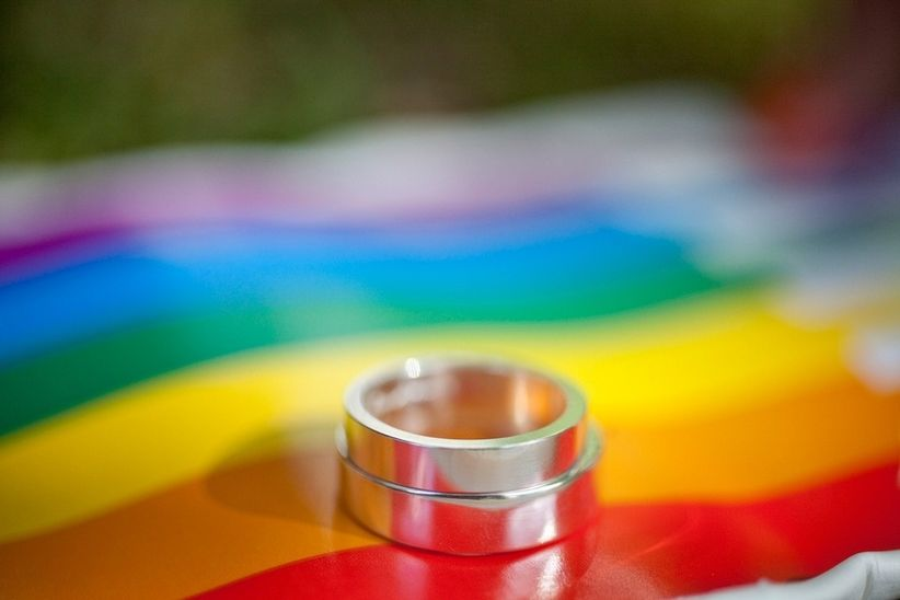 gay wedding ideas rainbow