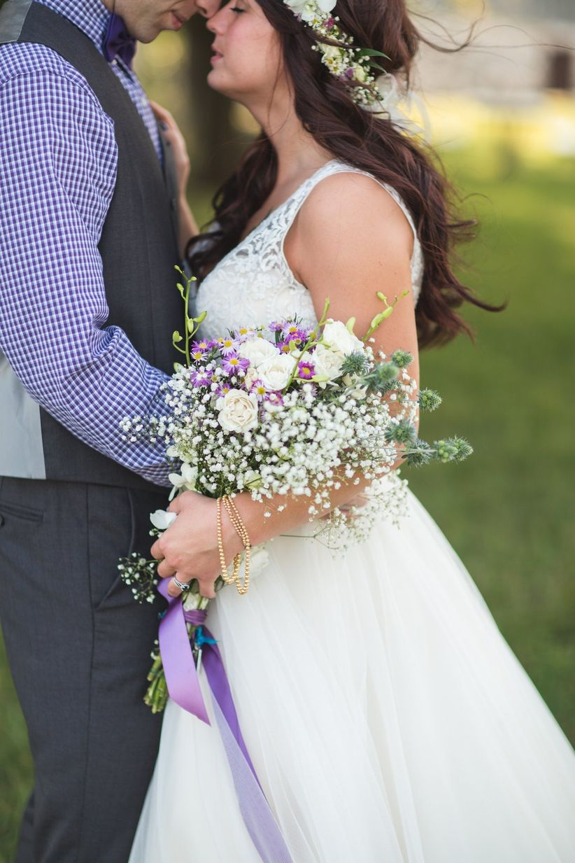 rustic pageant-style bouquet