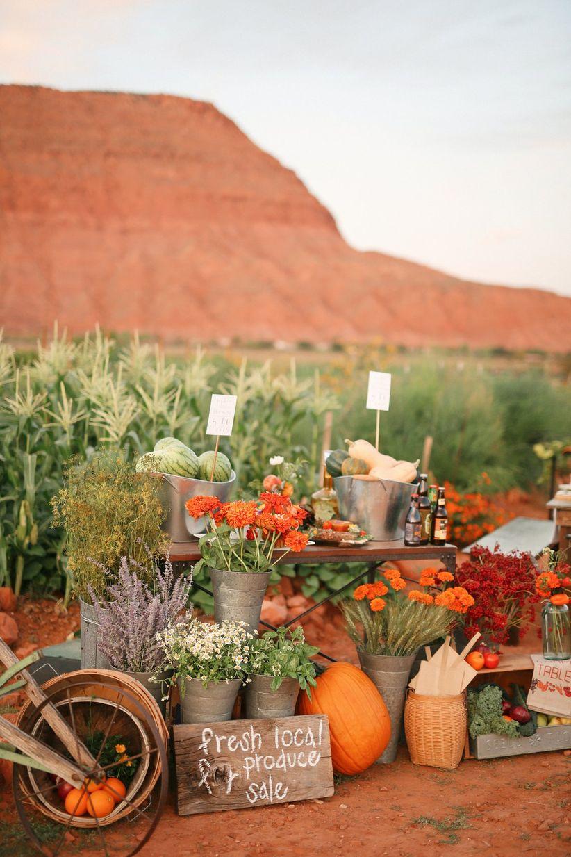 farm-to-table wedding inspiration
