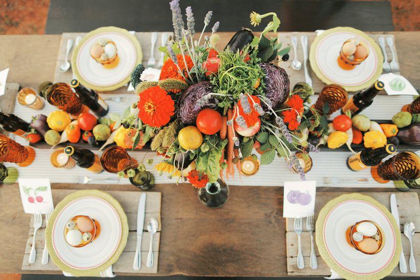 farm-to-table wedding tablescape