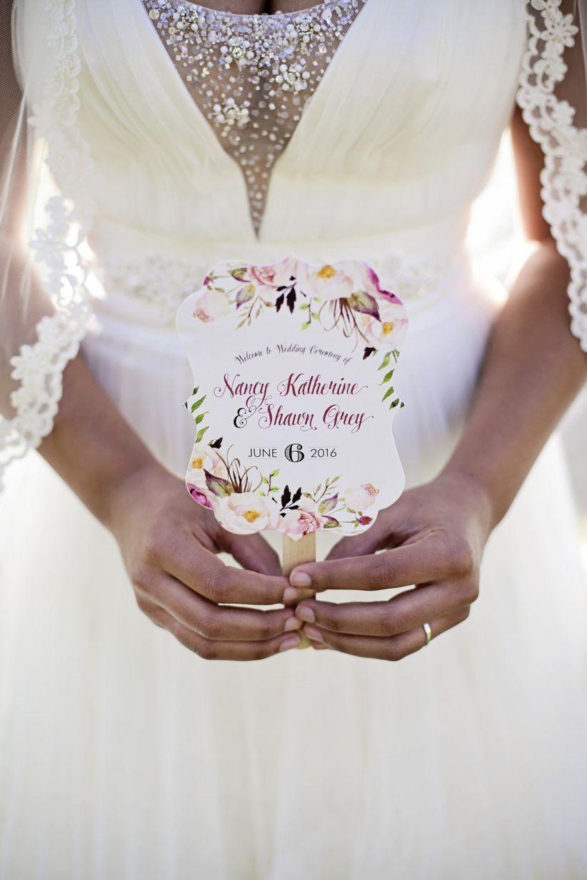 paper fan wedding ceremony programs