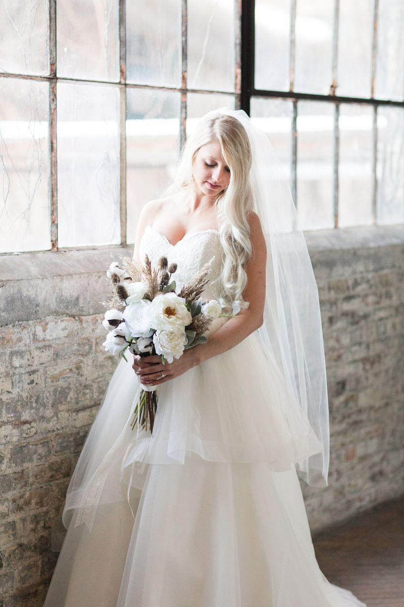 romantic tulle wedding dress