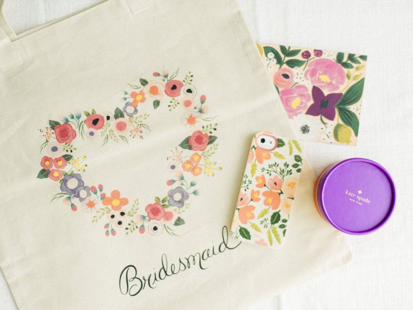 Bridesmaid gift bag and phone case