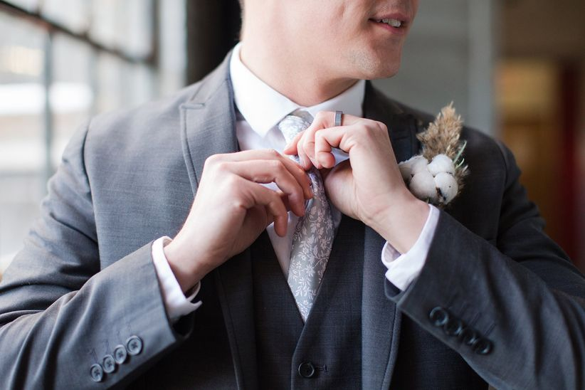 floral tie for wedding