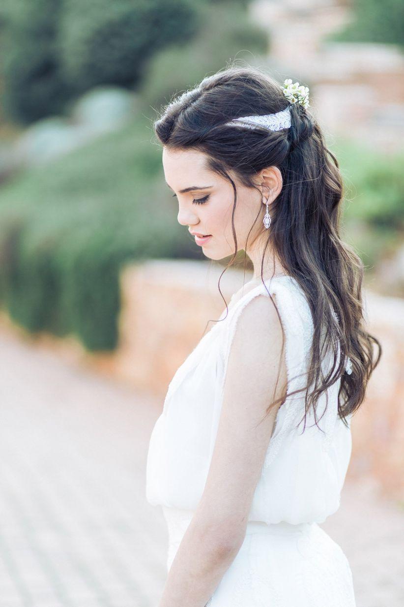 grecian wedding hair