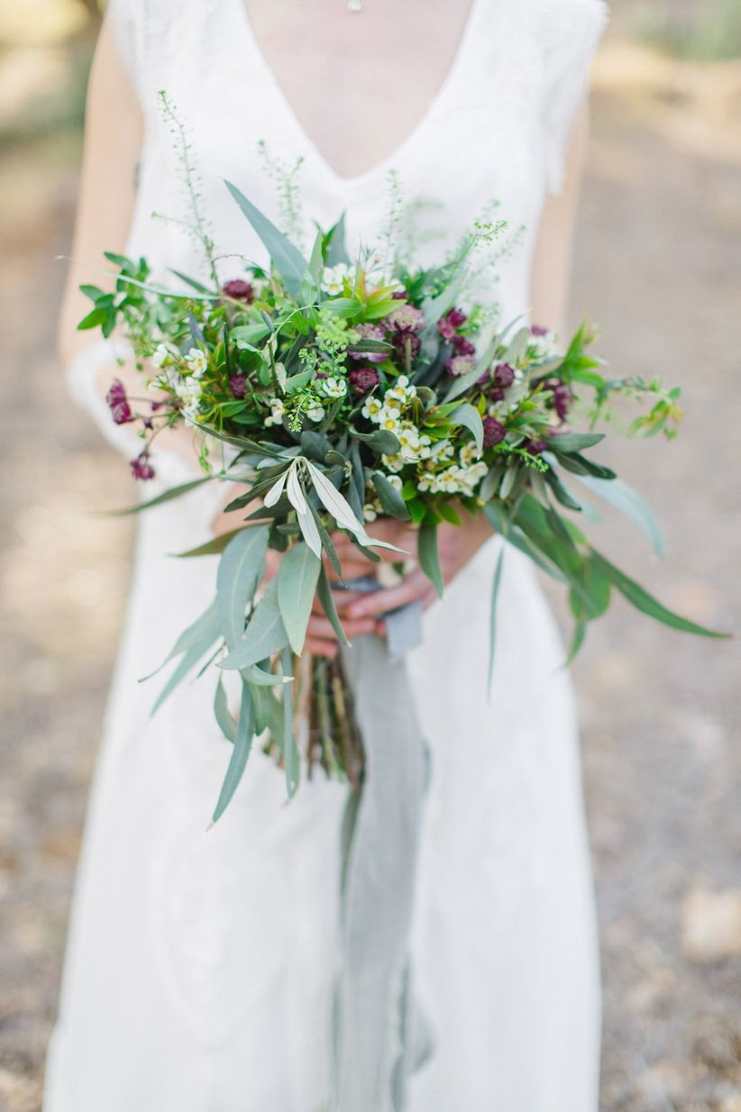 wedding bouquet with greenery