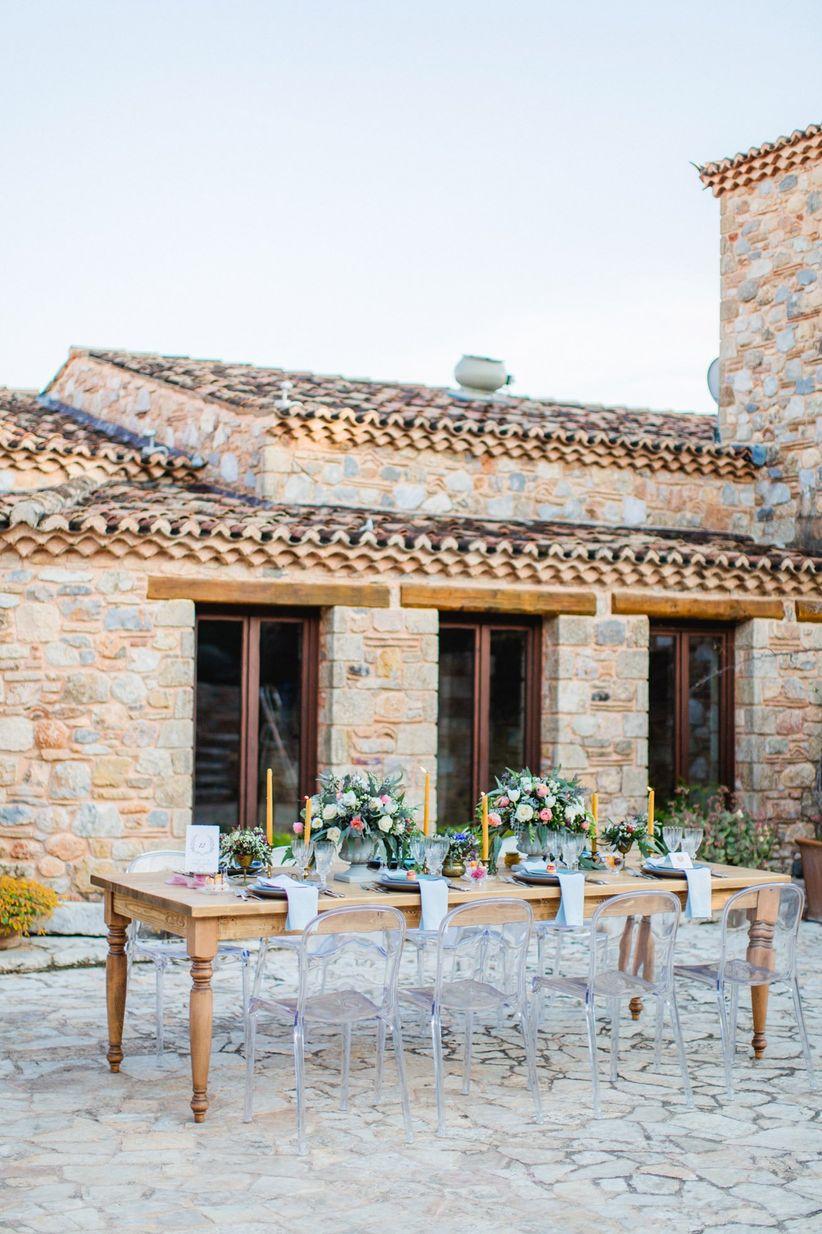 modern wedding tablescsape