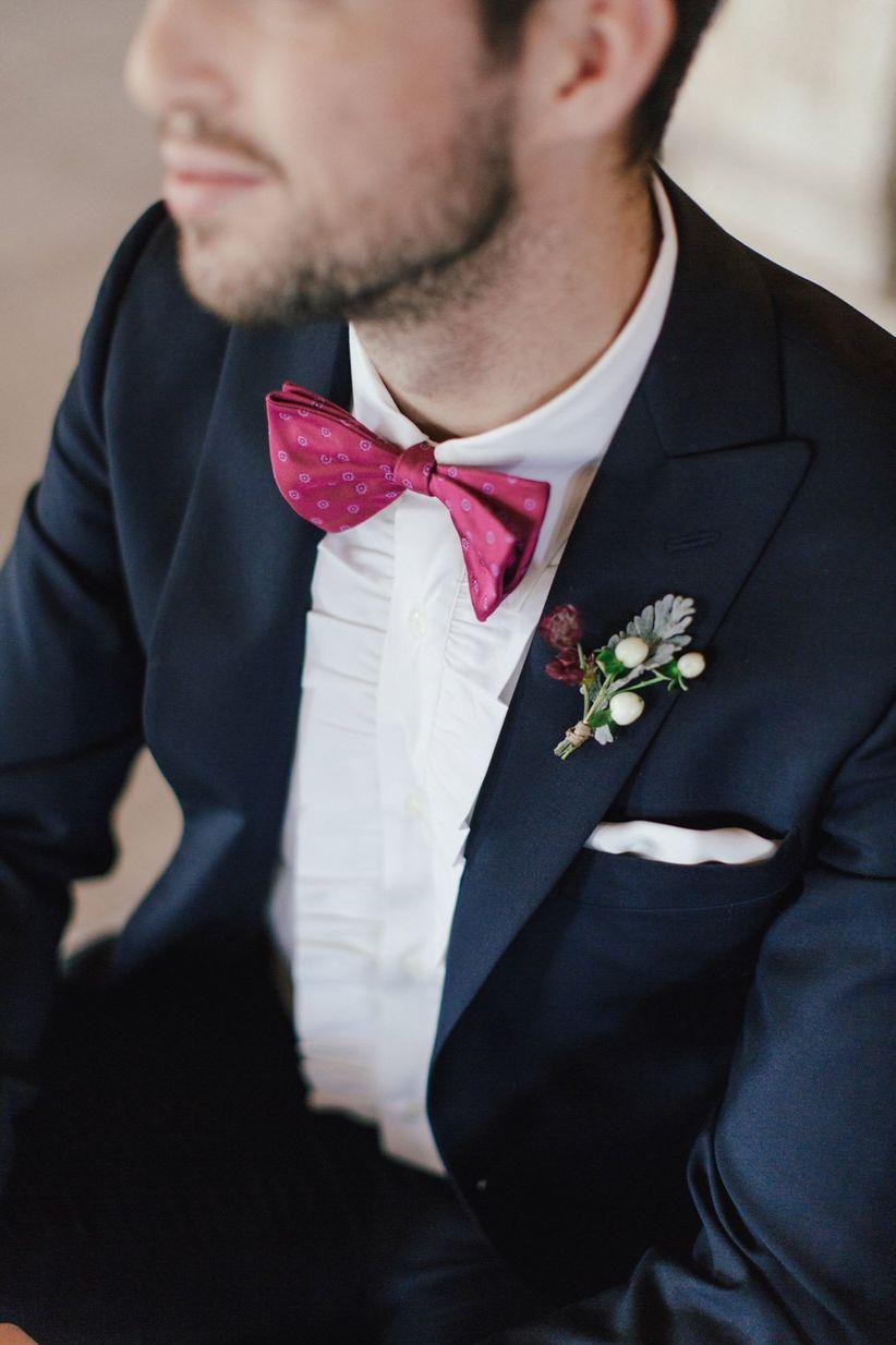 modern groom bow tie