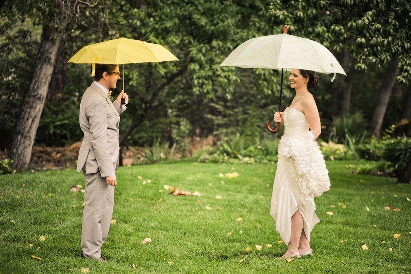 couple with umbrellas