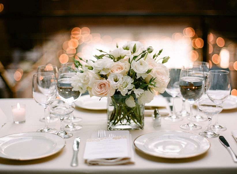 Wedding centerpieces 101 weddingwire blush and white centerpiece junglespirit Images