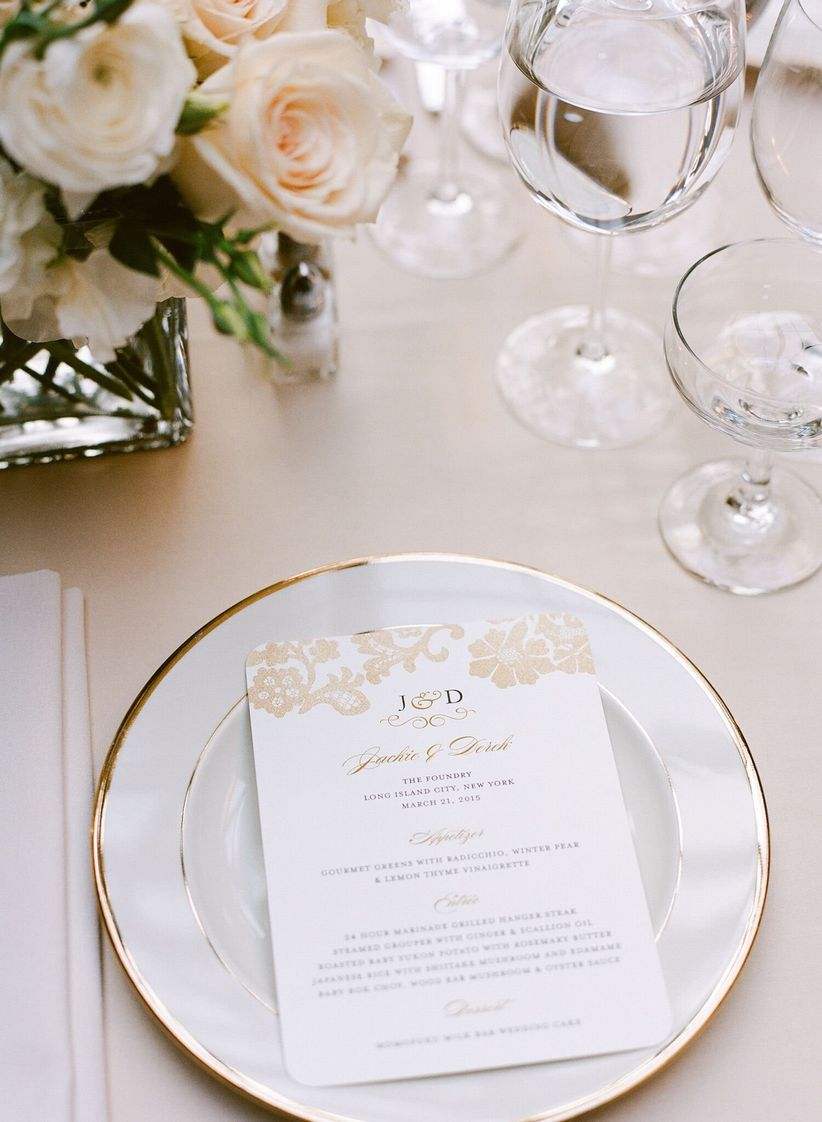 classic wedding place setting