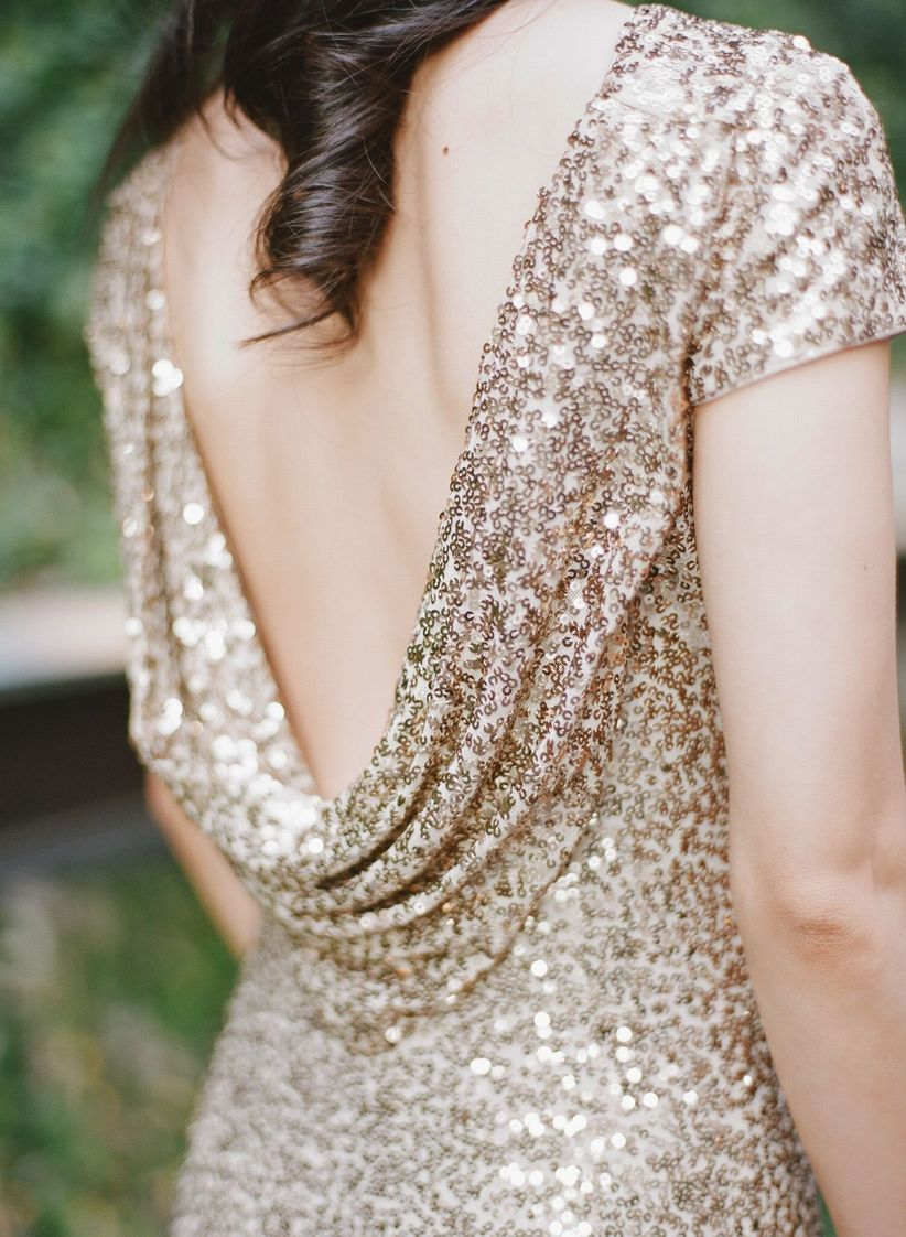 sequin bridesmaid dress