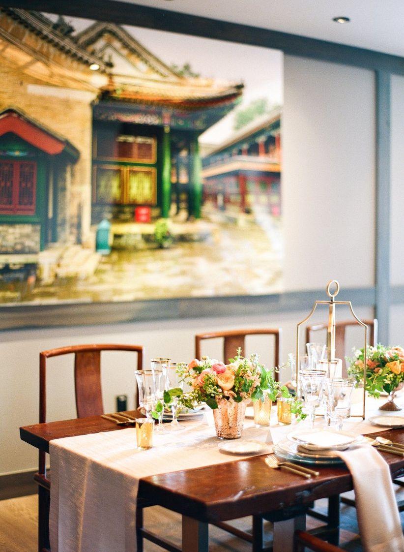 restaurant with artwork