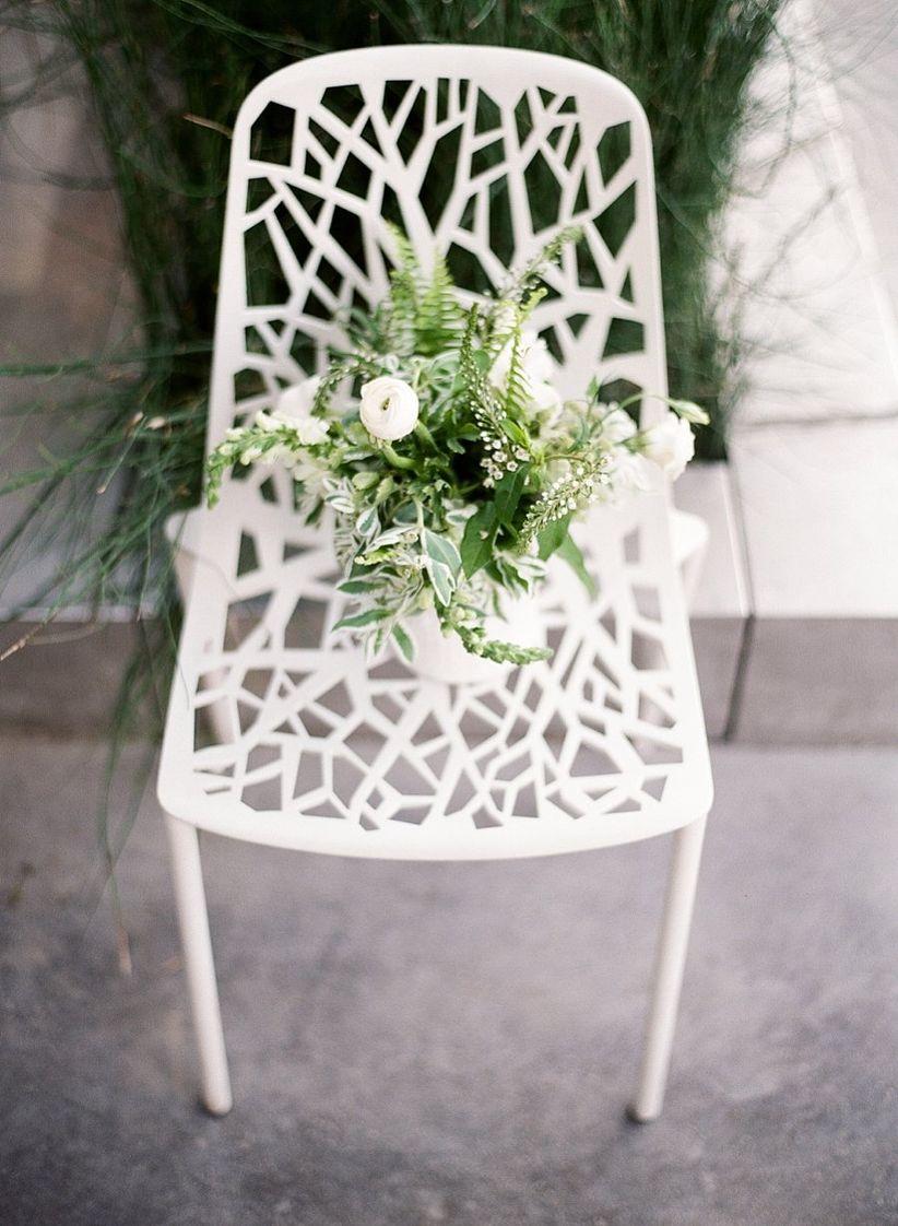 modern white chairs