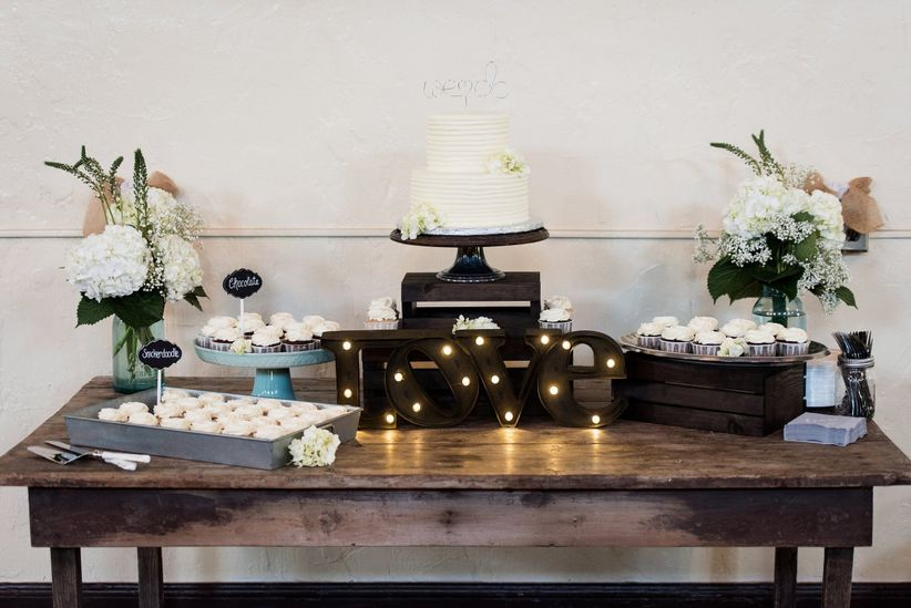 dessert display tablescape
