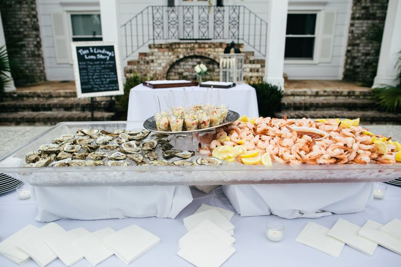 outdoor seafood display