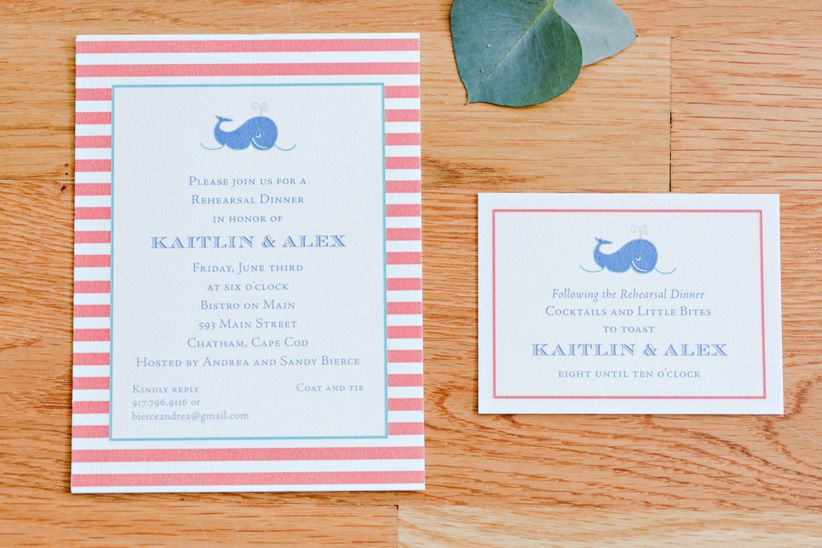 Rehearsal dinner invitation wording what you need to know weddingwire check out these rehearsal dinner invitation wording tips and ideas stopboris Image collections
