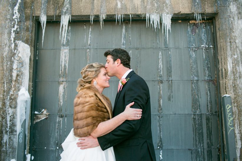 couple with snow