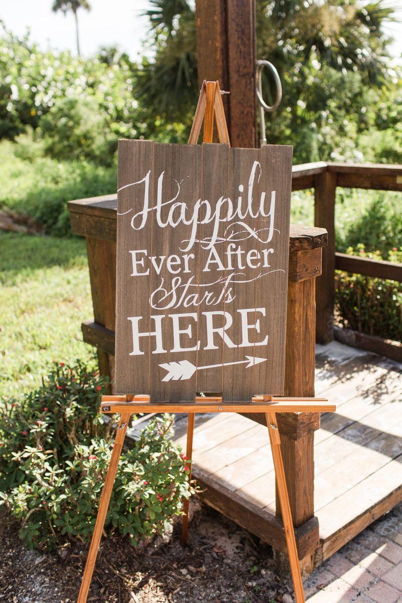 romantic wedding sign