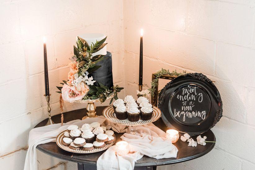 romantic dessert bar