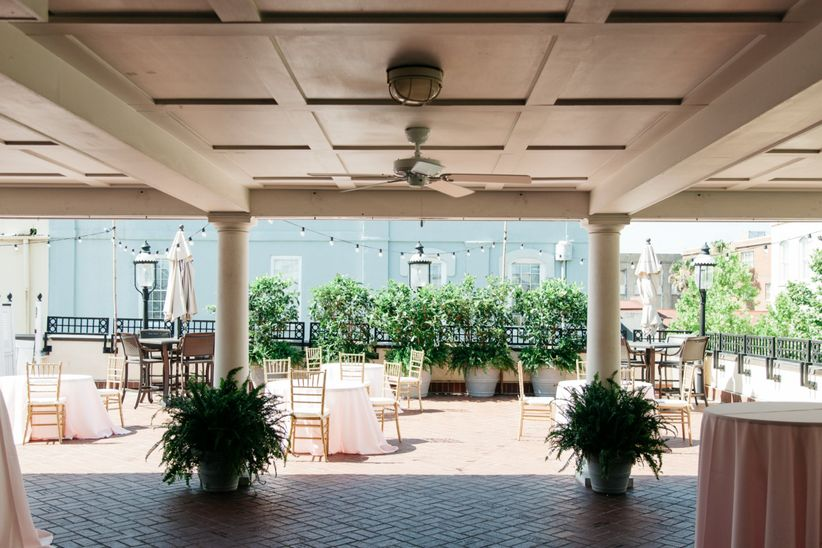 covered rooftop wedding venue