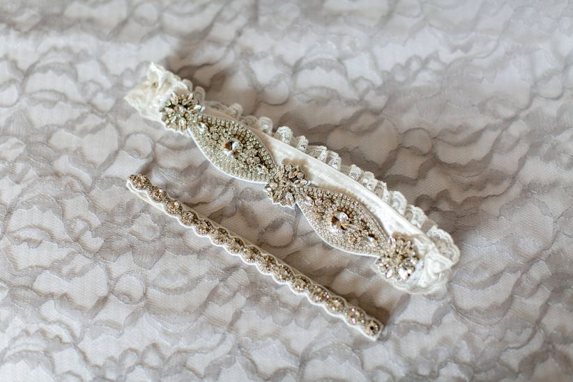 beaded wedding garter