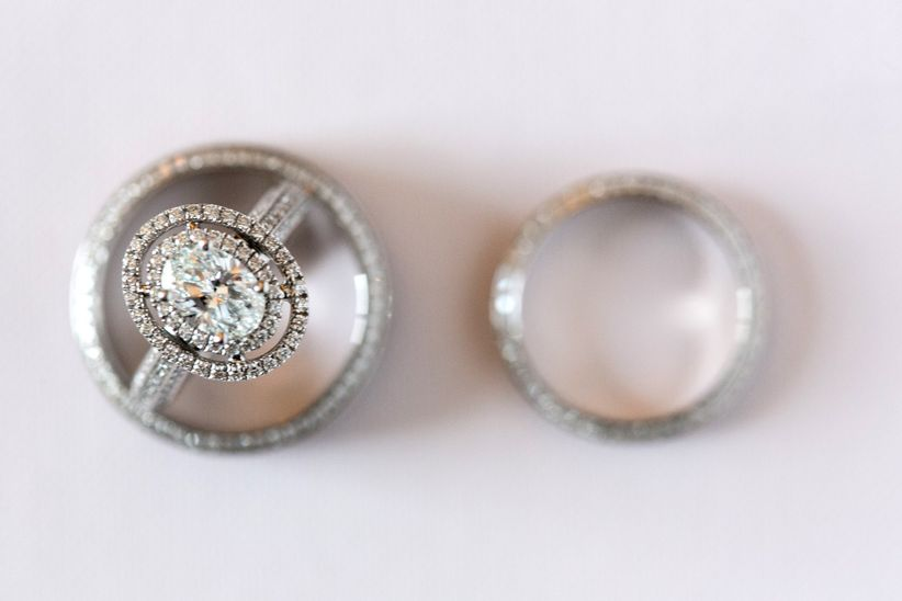 engagement ring and wedding band
