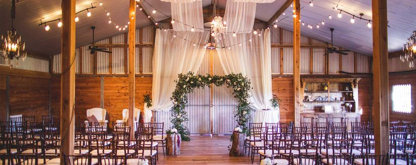 6 rustic barn wedding venues in houston southeast texas weddingwire photo moffitt oaks junglespirit Gallery