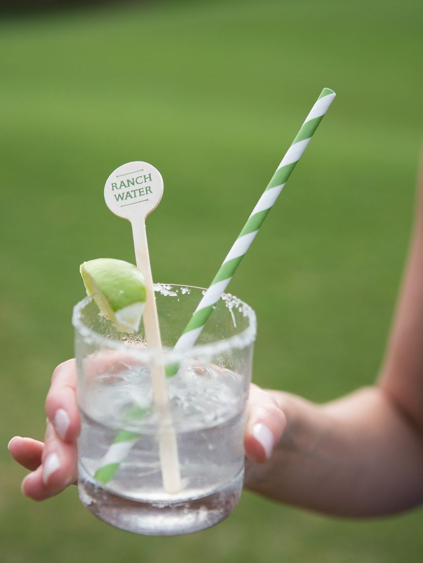 labeled cocktail stirrer