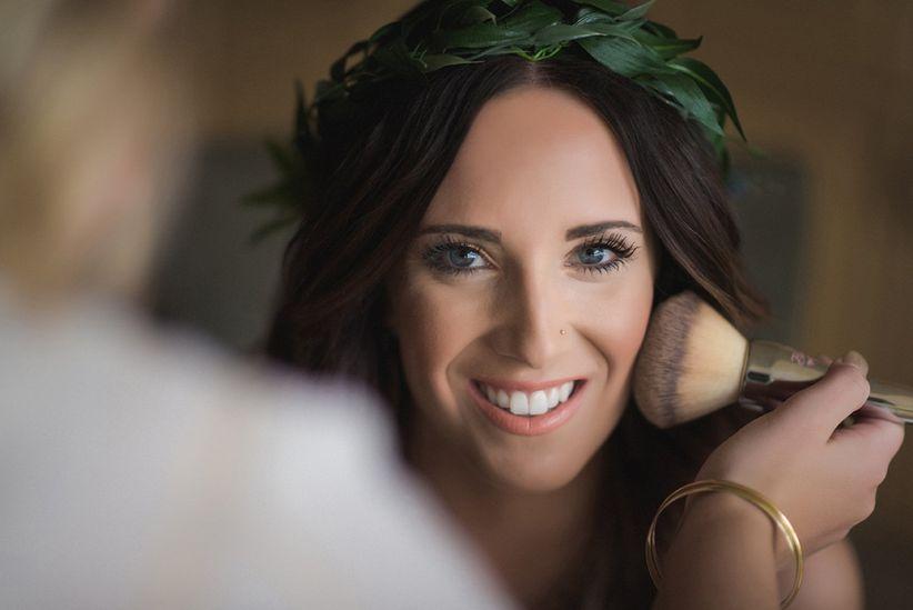 sunkissed bride makeup