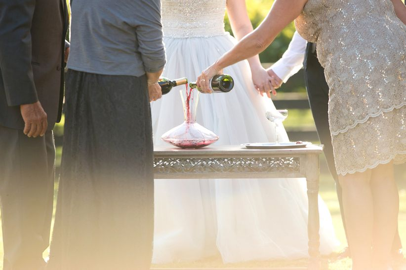 wedding ceremony wine ritual