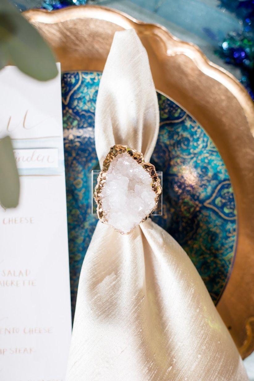 geode napkin ring