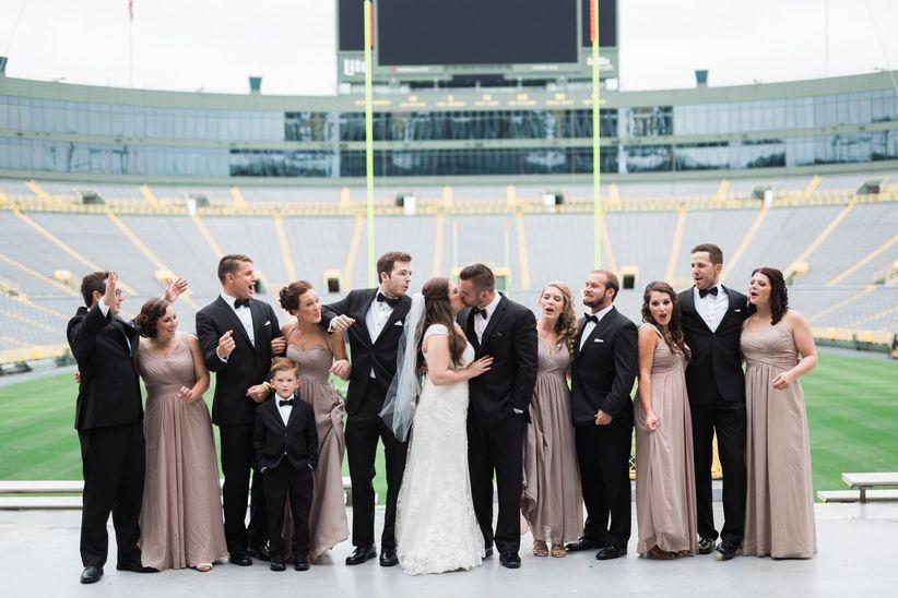 wedding party in stadium