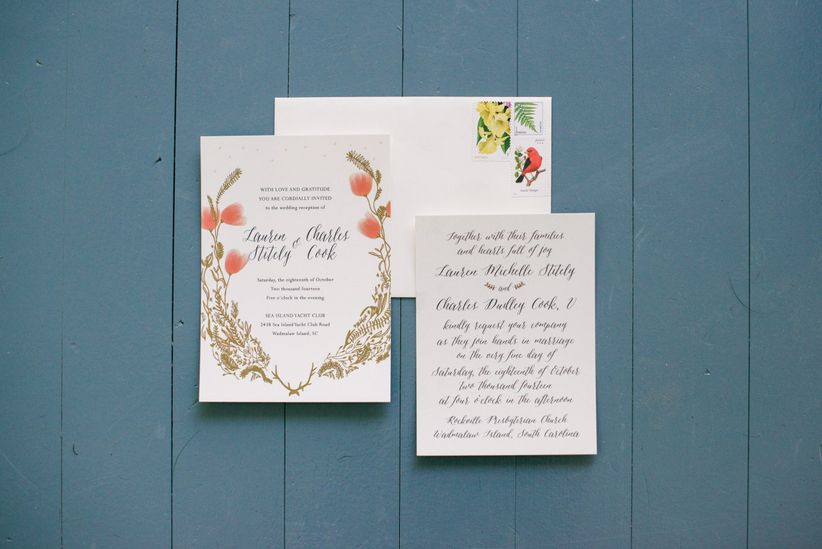 Your go to wedding stationery shopping list weddingwire to make your wedding stationery shopping experience a little bit easier heres a guide to every piece youll need junglespirit Gallery