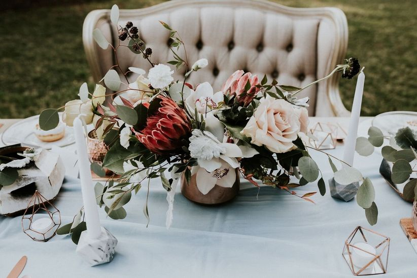 protea wedding centerpiece