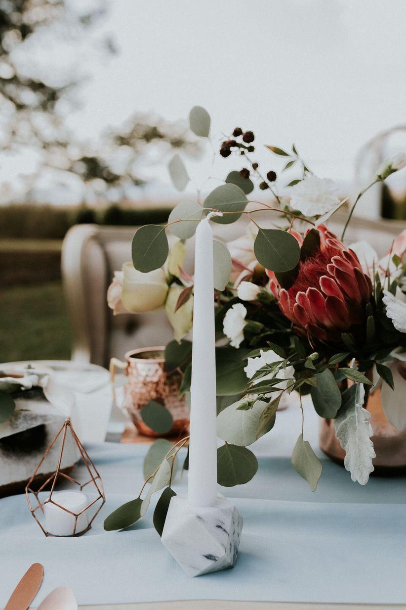 marble wedding decor
