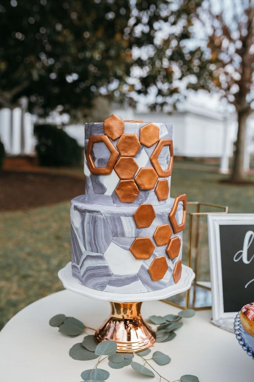 modern wedding cakes 2018 marble copper amp other new wedding trends to obsess 17480